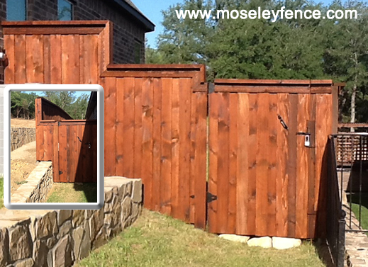 Custom Wood Fence, www.moseleyfence.com
