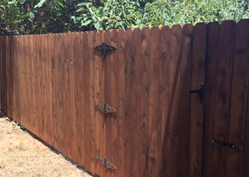Pre-Stained Wood Fence / www.moseleyfence.com